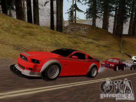 Ford Mustang RTR Spec 3 для GTA San Andreas вид сзади