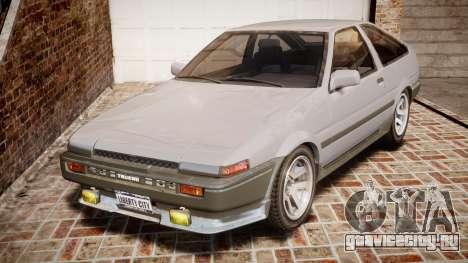 Toyota Sprinter Trueno 1986 для GTA 4