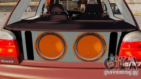 Volkswagen Golf MK3 Turbo для GTA 4 вид изнутри