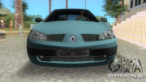 Renault Megane Sedan для GTA Vice City вид сзади слева