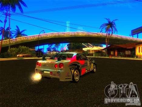 Nissan Skyline R34 Nismo для GTA San Andreas вид слева