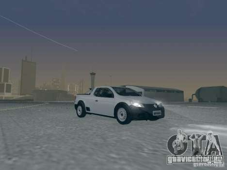 Volkswagen Saveiro 1.6 2009 для GTA San Andreas вид сбоку