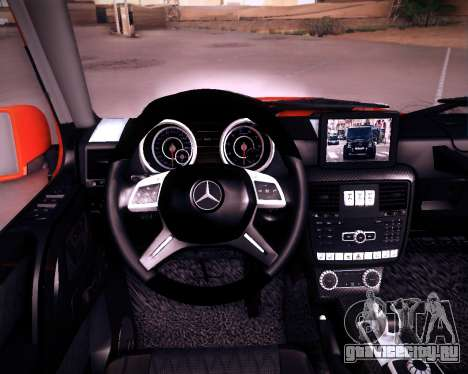 Mercedes-Benz G65 AMG 2013 Hamann для GTA San Andreas вид изнутри