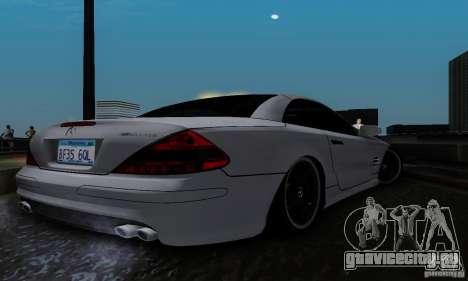Mercedes Benz SL 65 AMG для GTA San Andreas вид сзади слева