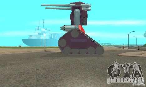 Танк RX-75-4 Guntank для GTA San Andreas вид слева