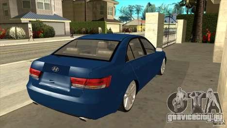 Hyundai Sonata NF для GTA San Andreas вид справа