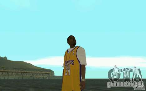 Afro-American HD skin для GTA San Andreas пятый скриншот
