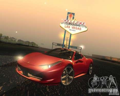 Ferrari 458 Italia Convertible для GTA San Andreas