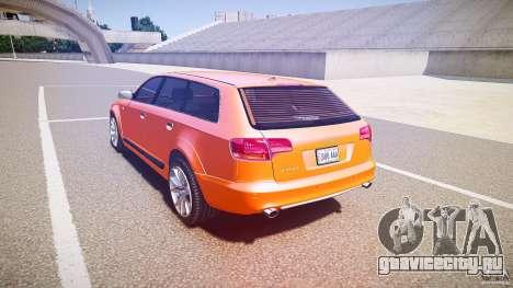 Audi A6 Allroad Quattro 2007 wheel 2 для GTA 4 вид сзади слева
