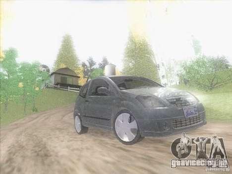 Citroen C2 для GTA San Andreas вид изнутри
