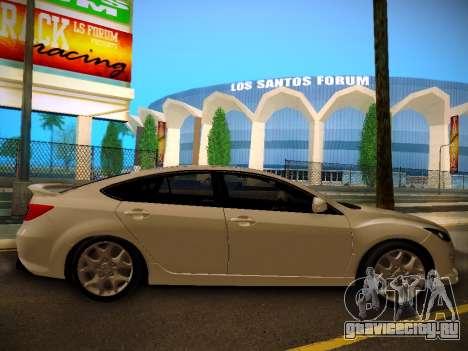 Mazda 6 для GTA San Andreas вид сзади слева