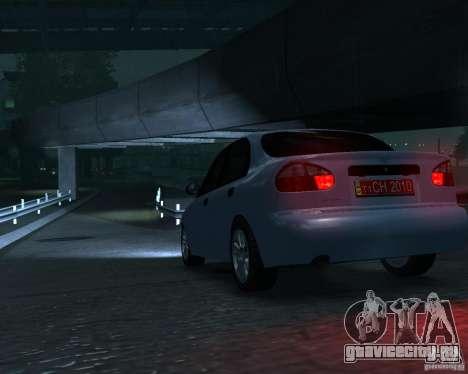 Daewoo Lanos для GTA 4 вид сзади слева