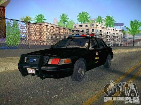 Ford Crown Victoria Police Intercopter для GTA San Andreas вид сзади