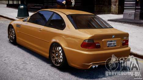 BMW M3 E46 Tuning 2001 v2.0 для GTA 4 вид сзади слева