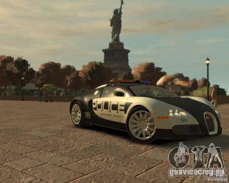 Bugatti Veyron Police [EPM] для GTA 4