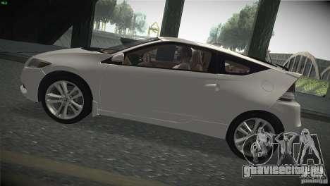 Honda CR-Z 2010 V1.0 для GTA San Andreas вид сзади слева