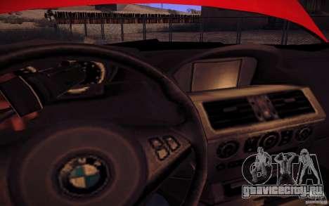 BMW M6 для GTA San Andreas вид сверху
