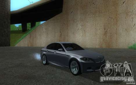BMW M5 2012 для GTA San Andreas вид слева