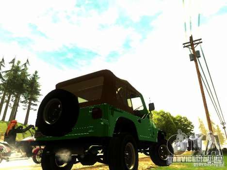 Jeep Wrangler Convertible для GTA San Andreas вид слева