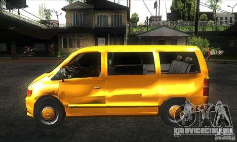 Mercedes Vito для GTA San Andreas вид слева