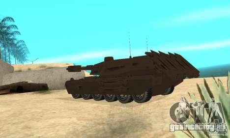 Танк Rhino Megatron для GTA San Andreas вид сзади слева