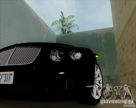 Bentley Continental GT V1.0 для GTA San Andreas вид сзади