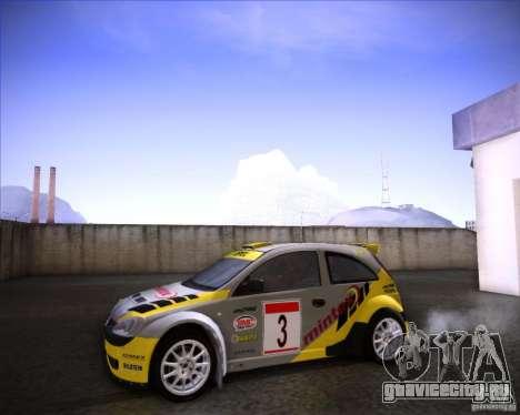 Opel Corsa Super 1600 для GTA San Andreas вид справа