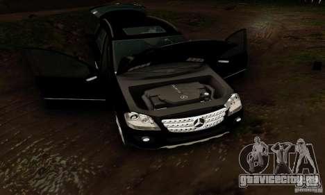 Mercedes-Benz ML500 для GTA San Andreas вид изнутри