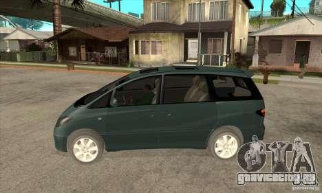 Toyota Estima для GTA San Andreas вид слева