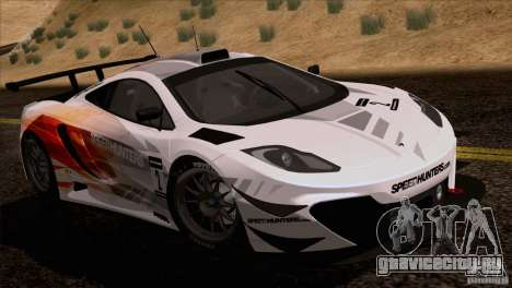 McLaren MP4-12C Speedhunters Edition для GTA San Andreas вид сзади слева