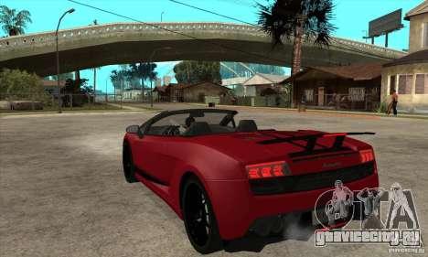 Lamborghini LP570-4 Performante 2011 для GTA San Andreas вид сзади слева