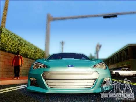 Subaru BRZ S 2012 для GTA San Andreas вид изнутри