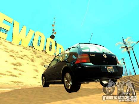 Volkswagen Golf 4 GTI для GTA San Andreas вид сзади