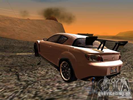 Mazda RX-8 Varis Custom для GTA San Andreas вид слева