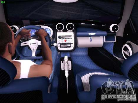 Pagani Zonda Tricolore 2010 для GTA San Andreas вид сбоку