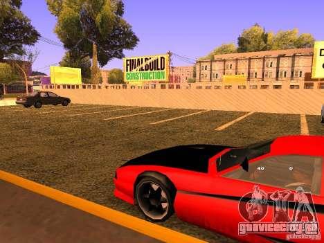 New Cheetah для GTA San Andreas вид сзади