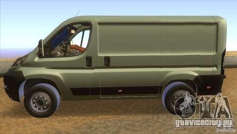 Citroen Jumper для GTA San Andreas вид слева