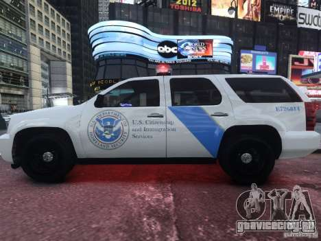 Chevrolet Tahoe Homeland Security для GTA 4 вид слева