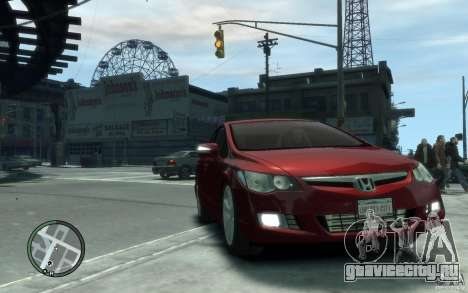 Honda Civic 2006 для GTA 4 вид сзади