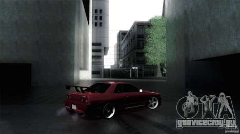 Nissan Skyline GT-R32 для GTA San Andreas вид сзади