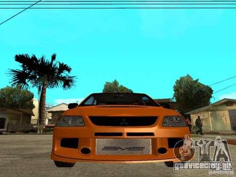 Mitsubishi Lancer Evo IX MR Edition для GTA San Andreas салон