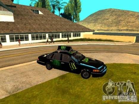 Ford Crown Victoria Taxi для GTA San Andreas вид слева