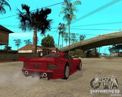 Mercedes-Benz CLK GTR road version для GTA San Andreas вид сзади слева
