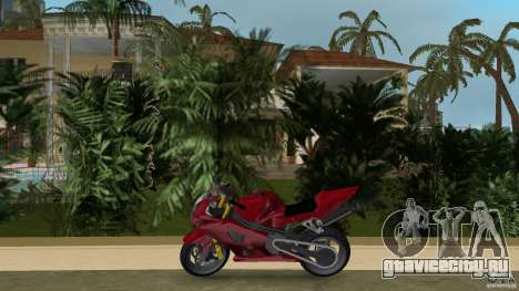 Suzuki GSX-R 1000 для GTA Vice City вид слева
