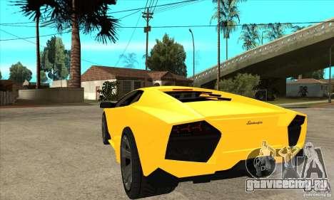 Lamborghini Reventon для GTA San Andreas вид сзади слева