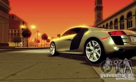 Audi R8 5.2 FSI Quattro для GTA San Andreas вид слева