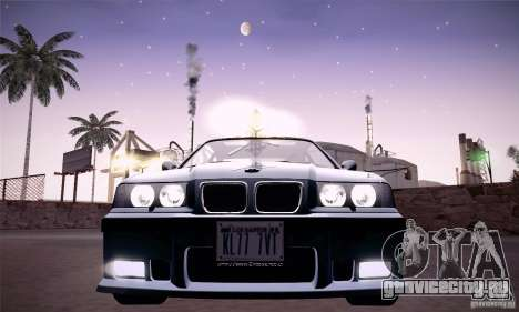 BMW E36 M3 Coupe - Stock для GTA San Andreas вид сзади