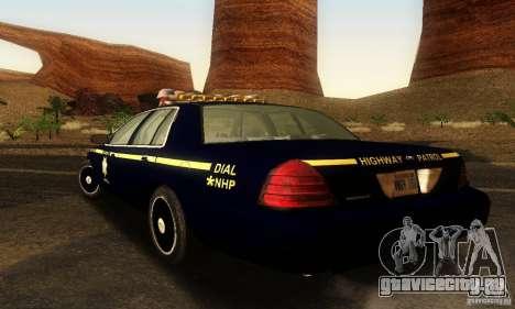 Ford Crown Victoria Nevada Police для GTA San Andreas вид слева