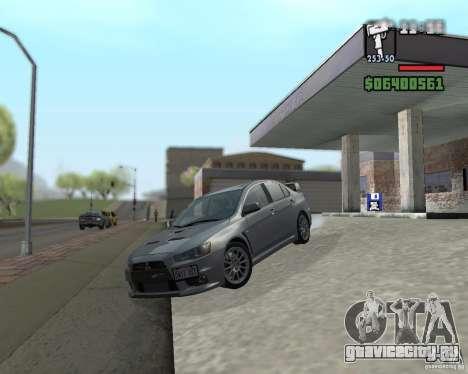 Mitsubishi Lancer Evolution X для GTA San Andreas вид сзади слева