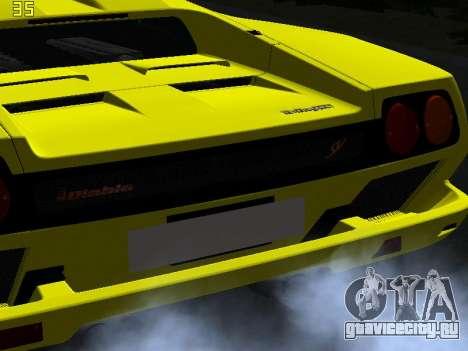 Lamborghini Diablo SV для GTA San Andreas вид сбоку